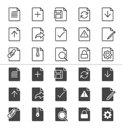 Document icons thin vector image vector image