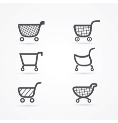 Shopping cart icons vector image vector image