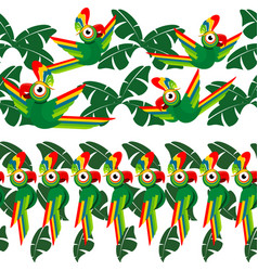 tropical seamless design with palm leaves and vector image vector image