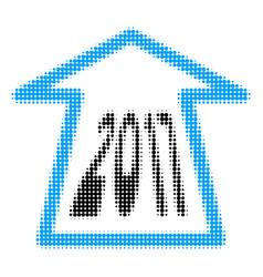 2017 ahead arrow halftone icon vector image