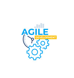 Agile software development icon vector