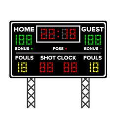 American football scoreboard time guest home vector
