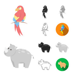an unrealistic animal cartoonblackflat vector image