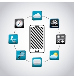app store technology icons vector image