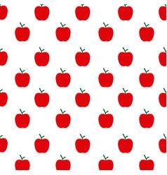 Apple seamless pattern stylish ornamental fruits vector