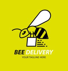 bees delivery logo design element vector image