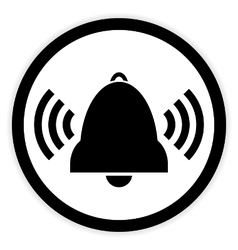 Bell button on white vector