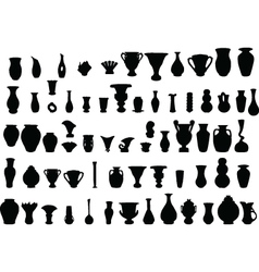 big collection of vase vector image