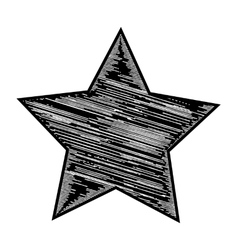 Black and white star vector image