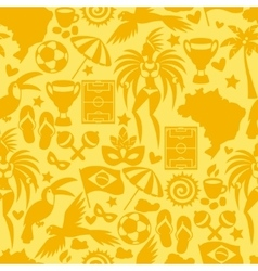 Brazil seamless pattern with stylized objects and vector