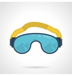 Climbing goggles color icon vector