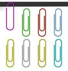 Colored paper clips vector