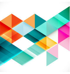 colorful transparency and overlapping triangle vector image