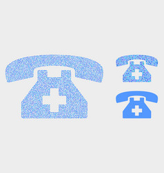 dotted first aid phone icons vector image