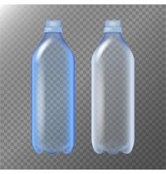 Empty Transparent Bottle Set Realistic Blank vector image
