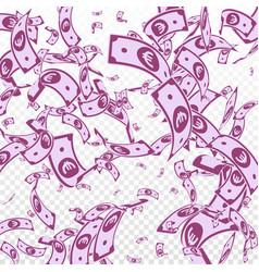 European union euro notes falling random eur bill vector