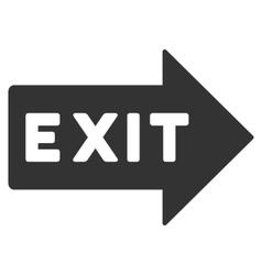 Exit Arrow Flat Icon vector