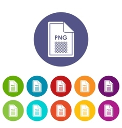 File PNG set icons vector