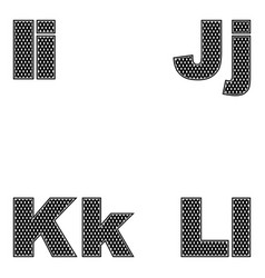 four letters i j k l large and small a simple vector image