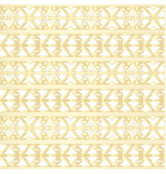 gold border seamless pattern vector image