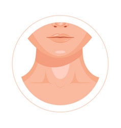 Human throat clavicle lips and nose design icon vector