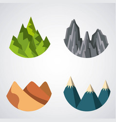 Icons set landscape vector