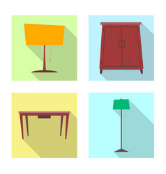 isolated object of furniture and apartment symbol vector image