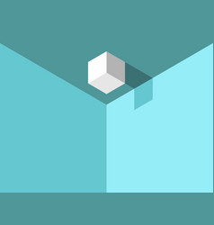 isometric cube on ceiling vector image