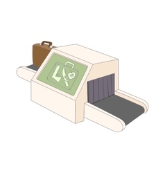 Luggage check in at the airport icon cartoon style vector