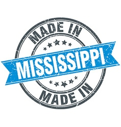 Made in Mississippi blue round vintage stamp vector