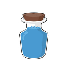 mana in bottle transparent glass bank with vector image