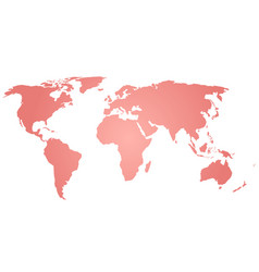 map of world pink silhouette vector image