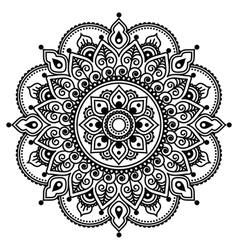 Mehndi Indian Henna tattoo pattern or background vector