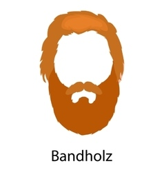 Men cartoon hairstyles with beards and mustache vector