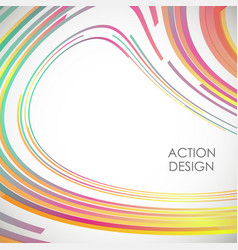 modern wave lines abstract background action vector image