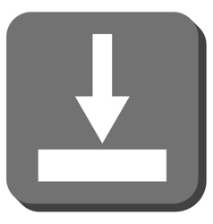 Move Bottom Rounded Square Icon vector