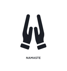 Namaste isolated icon simple element from india vector