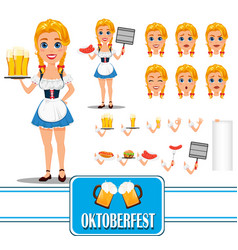 oktoberfest sexy redhead girl character creation vector image