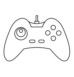One joystick icon outline style vector