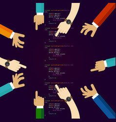 open source software coding programming vector image