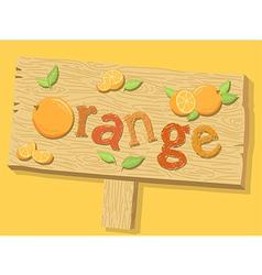 Orange Sign Board vector