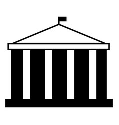 Parliament building icon simple style vector