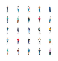 People character flat vector