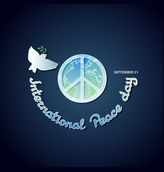Poster for the international day of peace vector