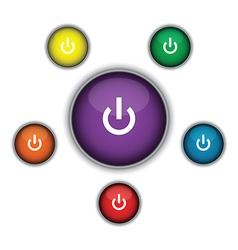 Purple on button vector