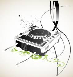 Remote dj vector