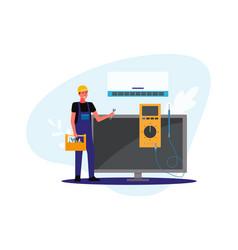 Repair maintenance technician for air vector