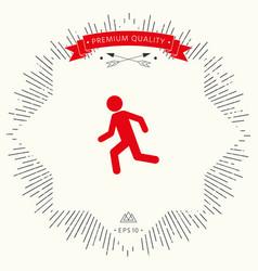 running man run icon vector image