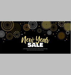 sale banner background for new year shopping vector image