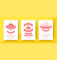sale banners or posters templates design vector image
